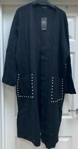 Women's Joanna Hope Black Pearl Trim Cardigan - UK Size M/L