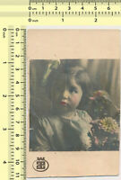 #042 1930's Girl Abstract Portrait Kid Child Color Tinted Hand Colored old photo