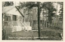 A View Of Remick's Wilderness Lodge, Arrow Lake, Ontario ON Canada RPPC