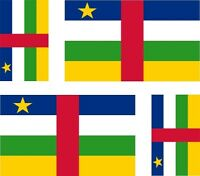 Set of 4x sticker vinyl car bumper decal outdoor flag central african republic