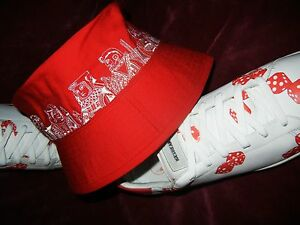 Billionaire Boys Club #Vegas Red Dice Bucket Hat 7 3/8 Medium BBC pharrell RARE