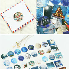 46PCS/lot Merry Christmas Sealing Sticker Diy Gift Bag Sealing Adhesive Tape Pop