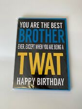Brother birthday card/funny/offensive