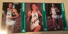 (3) Long Distance & Olympic Runner Autographed Adidas Photo/Cards