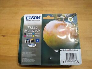 Epson ink cartridges apple T1295 multipack, part used (black only has been used)