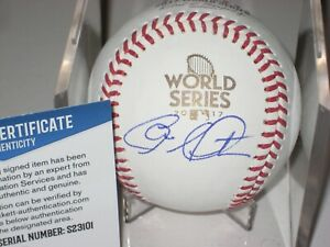 CHARLIE MORTON Signed Official 2017 WORLD SERIES Baseball w/ Beckett COA