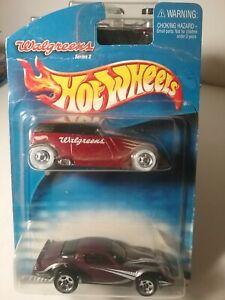 Hot Wheels Walgreens Series 2, Phaeton 2 Pack 2000, Mint cars, ugly card