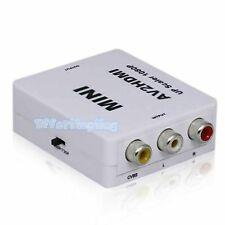 Composite AV CVBS 3RCA to HDMI  Video Converter Adapter 1080p 60Hz Upscaling