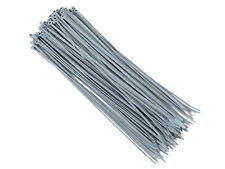 Carmotion Natural Nylon Plastic Cable Tie Zip 300 x 3.6mm, 100 Piece - Grey