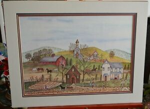 Primitive Country Farm by Christine ????, Matted, Limited Edition 223/300