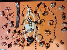 Crown jewelry lot.  Necklaces, earrings, old, real