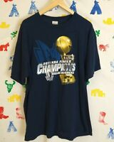Dallas Mavericks 2011 Championship Shirt Size XL Navy Blue Trophy Rap Tee NBA