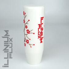 ILLINIUM FLUX RED PAINTED WHITE SAKURA BLOSSOM MANUAL SHIFT KNOB 10X1.5 K69