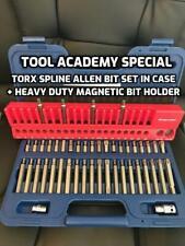 Sealey Torx Star Hex Allen Screwdriver Bit Set + Case +Large Magnetic Bit Holder
