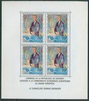 Dahomey 1967 Adenauer Block 8 postfrisch (C20104)
