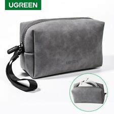 Ugreen Accessories Organizer Bag Leather Storage Case For Headphone Usb Cables