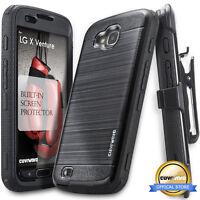 COVRWARE® [AEGIS] Brushed Metal Texture Holster Case For LG X Venture / Calibur