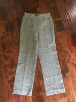 J. Crew Black & White Speckled Wool Pants, Size 8