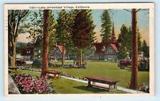 LAKE ARROWHEAD VILLAGE, California CA ~ 1928 San Bernardino County  Postcard