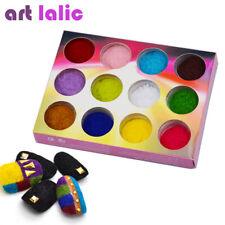 12 Color/Set Velvet Nail Glitter Polish Nail Art Powder Pigment Flocking Velv…