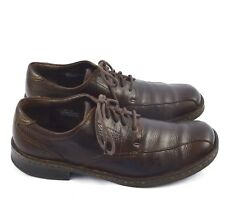 Born Mens Bicycle Toe Dark Brown Leather Oxfords Lace Up Casual Shoes Sz 10/44