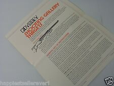 Shooting Gallery Odyssey 1 Computer Video Game System Users Owners Manual Only