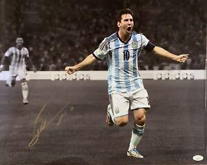 """Lionel Messi Argentina Autographed 16"""" x 20"""" Celebration Photograph"""