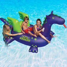 "Swimline 115""L  Sea Dragon Ride On Swimming Pool Inflatable Float"