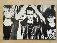 New Model Army Press Photo RARE Moose Justin Rock Music Collectible UK Band