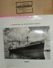 GRANDE PHOTO CNP Cie NAVIGATION PAQUET - DIVES cargo 1948-1964