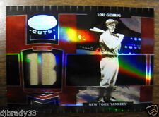 Lou Gehrig 2004 4/50 LEAF CERTIFIED CUTS MARBLE MATERIAL RED POSITION PANTS 1/1