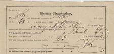 10761-Ricevuta d' impostazione, da Trieste a Basilea, 1876