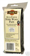Liberon Steel wool Ultrafine 0000 grade 4 x 7gm pads