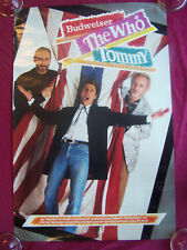 """orig 1989 """"Who"""" Presents Tommy """"La/Ny Tour"""" Poster"""