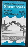 US Scott #BK166, Plate #1 Complete Booklet 1989 25c VF MNH