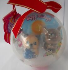 Puppy in My Pocket Kitty Coco&Lala Himalayan Cat Christmas Holiday Ball Ornament