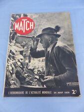 Revue MATCH du 24 août 1939 SALZBOURG TANNENBERG HINDENBURG TYRONE POWER