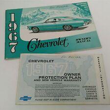 Vtg. original 1967 Chevrolet Owner's Manual & Protection Plan Booklet - NO PLATE