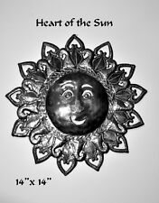 "HAITIAN METAL ART......THE ""HEART of SUN ""....Handmade in Haiti"