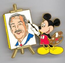 Disney Auctions Father's Day Mickey Mouse Painting Walt Portrait Jumbo LE100 Pin
