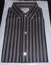 NOS 50's-60's HARPER Black Red Silver Gradation Stripes Long Sleeve ROCKABILLY L
