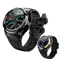 2 in 1 Men Bluetooth Earphones Thermometer Full Touch Screen Sport Smart watch