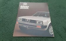 1979 1980 ALFA ROMEO ALFETTA 2000 L SALOON UK FOLDER BROCHURE November 1979