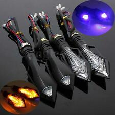 4pcs Sword-Shaped LED MOTORCYCLE BIKE TURN SIGNAL INDICATOR LIGHT AMBER LAMP US