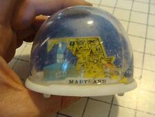 vintage 60's-70's Plastic Snow Globe Hong Kong: Larger Dome--MARYLAND