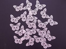 24 Pre Cut Edible Pink Butterfly Rice / Wafer Paper Flavoured Cupcake Toppers