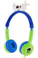 RockPapa Adjustable Cute On-Ear Headphones Earphones w/ Eyes for Kids Boys Blue