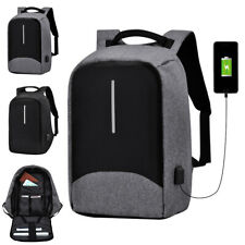 "15.6"" Laptop Backpack USB Anti-theft Waterproof Mens Womens Travel Shoulder Bag"