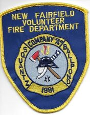 """New Fairfield  Company - A, CT  (4"""" x 5"""" size) fire patch"""