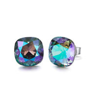 AB Aurora Borealis Crystal Made With Swarovski Elements Earrings
